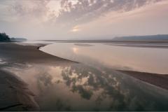 Last Light Over River Kent - Arnside